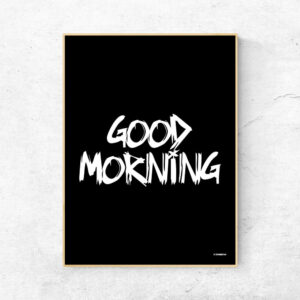 Good morning godmorgen plakat sort
