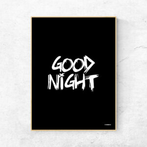 Good night godnat plakat