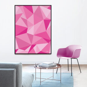 Fifty shades of pink grafisk plakat
