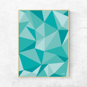 Grafisk plakat - fifty shades of green - polygons - posterboy.dk