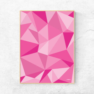 Lyserød fifty shades of pink plakat