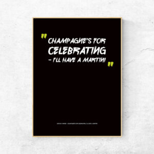 Champagne's for celebrating plakat