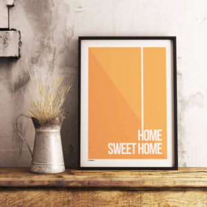 Home sweet home plakat orange
